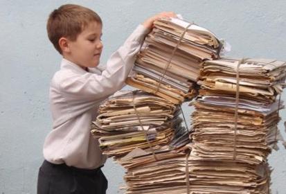 Экологическая акция: школьники собрали 30 тонн бумаги и пластика
