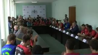 Футболисты «Зари» рассказали, как им удалось одержать победу