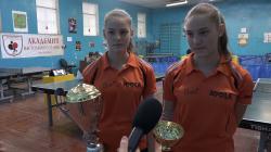 Золотую и серебряную медали привезли из Хорватии бельцкие теннисистки