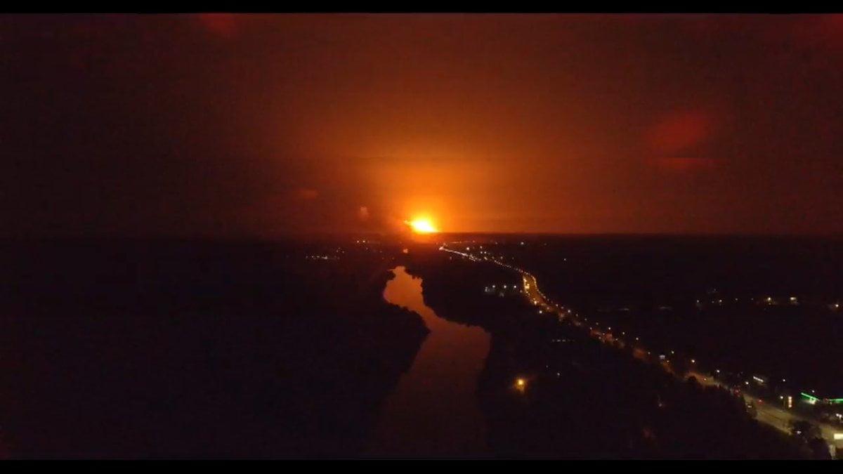 взорвались артиллерийские склады